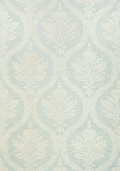 CLESSIDRA, Aqua, T89161, Collection Damask Resource 4 from Thibaut