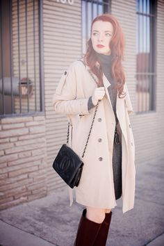 Sweater Dress + A Trench