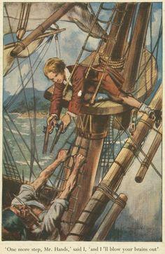Treasure Island; illustrated by S. Van Abbe.  Robert Louis Stevenson.  1951.