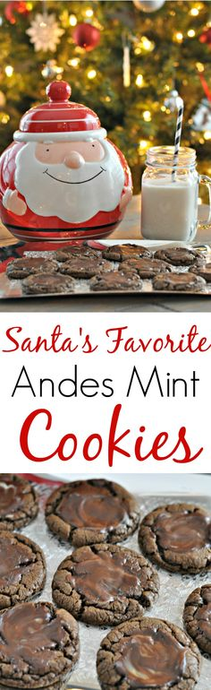Andes Mint Cookies. Santa approved! Christmas cookies