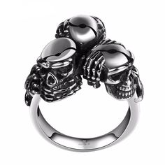 Upgrade your style with this unique See No Evil, Hear No Evil, Speak No Evil Stainless Steel ring. Made with high quality stainless steel material. Product Details: - Material: Metal - Metals Type: St