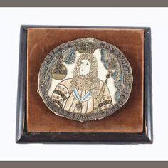 A late 17th century needlework handheld mirror Sold for £2,875 inc. premium
