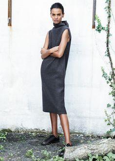 PREMIUM - Shift wool-blend dress
