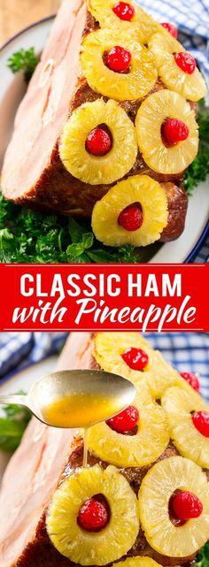 Ham with Pineapple and Cherries Recipe | Easter Ham | Christmas Ham | Holiday Ham | Pineapple Ham Recipe
