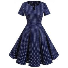 Vintage Polka Dot Fit and Flare Dress Vintage Dresses Online, Vintage 1950s Dresses, Vintage Inspired Outfits, Vintage Style Outfits, Frock For Teens, Casual Dresses, Fashion Dresses, American Dress, 1940s Fashion