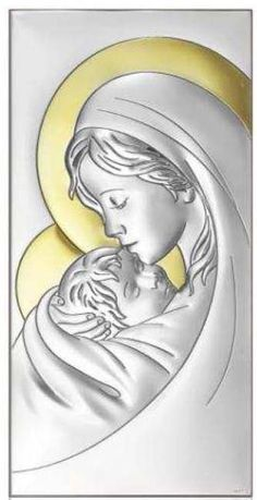 Aluminum Foil Art, Aluminum Can Crafts, Madonna, Pewter Art, Metal Embossing, Tin Art, Mary And Jesus, Blessed Mother, Mother Mary