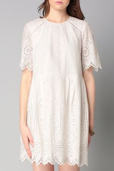 Robe blanche broderie anglaise Josephine Cotton