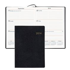 Sun Graphix has switched from leather to vinyl for the covers of these day planners and cut 15% off the price. As long as it's the same inside, I'm happy; I've been using these for the last 17 years. Keeps me on point and on schedule.