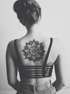Upper Back Mandala Tattoos for Girls