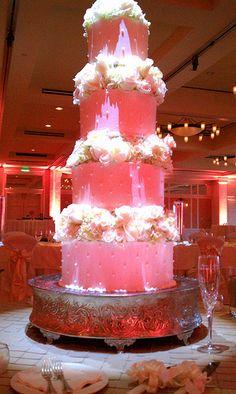 Austin Texas Event, Roomwash, Uplighting, Cake Pinspotting, Chandeliers, Pink, Red, ILD Lighting.