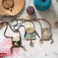 for your knitting project? travel pouch for your crystals? Learn how to create your own custom pouches and bags for all your magi… Hand Sewing Projects, Knitting Projects, Sewing Art, Sewing Crafts, Magic Charms, Watercolor Fabric, Pouch Bag, Pouches, Fabric Jewelry