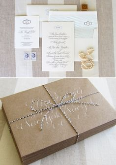 Love copperplate, love white ink on colored stationery.
