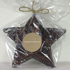 """Outer Banks Country Store - 8"""" Hanging Star with Scented Rosehips Potpourri - Cinnamon, $14.99 (http://www.outerbankscountrystore.com/8-hanging-star-with-scented-rosehips-potpourri-cinnamon/)"""