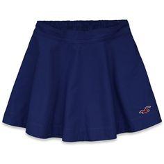 Hollister Leucadia Skirt ($20) ❤ liked on Polyvore featuring skirts, mini skirts, blue, blue skirt, embroidered mini skirt, preppy skirts, embroidered skirt and blue mini skirt