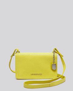 Longchamp Tasche Leder Gelb