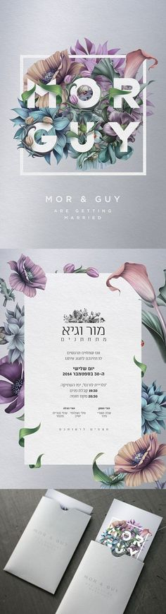 A showcase of 50 beautifully designed print invitations to inspire you - Graphic Templates Search Engine Graphisches Design, Layout Design, Print Design, Logo Design, Design Ideas, Custom Design, Floral Design, Illustration Inspiration, Graphic Design Inspiration