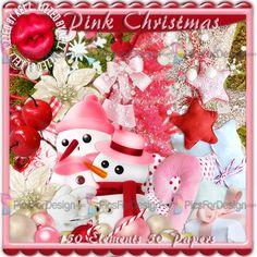 Pink Christmas - Illustration store PicsForDesign.com. PSP tubes, PSD illustrations, Vector illustrations.