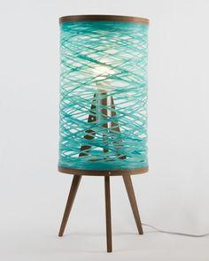 Tripod Table Lamp - Aqua