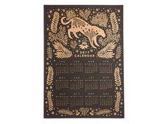 2017 Golden Jungle Calendar by PapioPress on Etsy