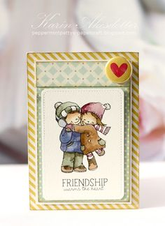 Friendship warms the heart For more info: I share my creative projects here: https://www.instagram.com/peppermintpatty42/ and on my blog: http://peppermintpattys-papercraft.blogspot.se and on pinterest; https://www.pinterest.se/peppermint42/my-watercolors/