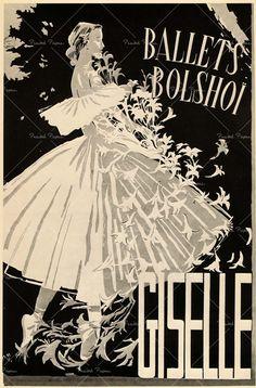giselle #ballet advertising #vintage More