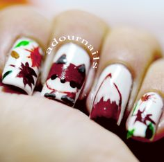 What does the fox say? #foxnails inspired by @elleandish  #notd #adournails #nailart