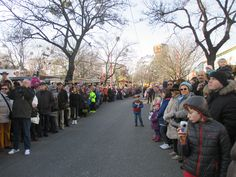 crowds wait expectantly at the Prater park Crowd, Carnival, Street View, Park, Carnavals, Parks