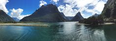 https://flic.kr/p/PtsdAx | 2161ex  Milford Sound Pano | The South Island of New Zealand has rugged beauty in so many forms.  Milford Sound is really a glacier-carved  fjord that is  a part of Fiordland National Park, Piopiotahi Marine Reserve, and the Te Wahipounamu World Heritage site.  The waters flow into the Tasman Sea.    A boat cruise up the Sound delights the eye with rugged mountains rising straight up  from the pristine blue waters, cascading waterfalls that drop over 1000 meters…