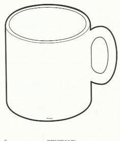 Mug Outline , Coffee Mug Clipart , Hot Chocolate Mug Coloring Page Chocolate Crafts, Hot Chocolate Mug, Kindergarten Crafts, Preschool Crafts, Preschool Winter, Daycare Crafts, Preschool Ideas, Printable Crafts, Templates Printable Free