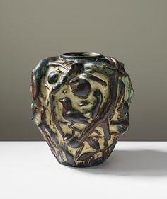 ** Axel Salto (Danish, 1889-1961), Royal Copenhagen , Glaze Decorated Stoneware Vase.