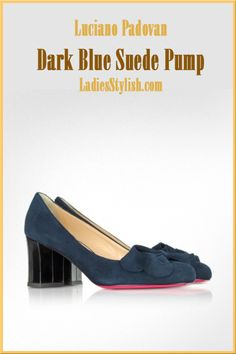 Luciano Padovan - $498.00 - Dark Blue Suede Pump  ... http://ladiesstylish.com/go/designers/Luciano-Padovan/Shoes.html #LadiesStylish #Designers #Shoes