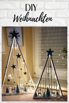 DIY Christmas with product medley at Christmas time Stampin Up! - Fir tree / wood / color / LED / Stampin Up / quick decoration - Wooden Christmas Decorations, Christmas Crafts To Make, Diy Christmas Tree, Modern Christmas, Outdoor Christmas, Christmas Projects, Simple Christmas, Christmas Holidays, Christmas Ornaments