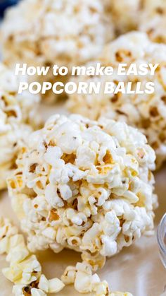 Popcorn Recipes, Candy Recipes, Holiday Recipes, Snack Recipes, Dessert Recipes, Appetizer Recipes, Popcorn Balls, Delicious Desserts, Yummy Food