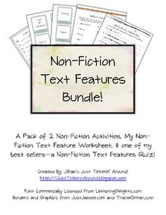 This is a good idea nonfiction text feature markers - buy it or make it on your own...