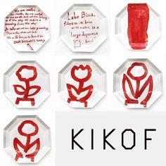 【キギが絵付けを行ったKIKOFの絵付け皿の販売開始!】 先日、滋賀の窯元にてキギが絵付けを行ったKIKOFのプレートの販売をOFSにて開始致します。全て一点もので、キギの二人が直接お皿に描いた貴重なシリーズ7種が入荷です。5/7(土)より販売を開始します。 ■KIKOF Plate01(絵付け皿)¥19,440(税込)  ※サイズはPlate01(Φ285 H22)と同じです。    白いお皿に落ち着いた朱がはえ、これまでのKIKOFとまた違った表情を演出しています。是非お手に取ってご覧ください。    その他にもKIKOFではエプロン、ランチョンマットなど母の日のプレゼントにもぴったりな商品を取り揃えております。  KIGI_M_exhibition「キギの作品と、商品と、しごと。」展も好評開催中ですので、この週末はOFSへ!    #OURFAVOURITESHOP #OFS  #KIGI #キギ #植原亮輔 #渡邉良重 #KIKOF #白金