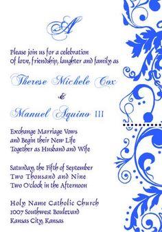 Electronic version of invitation