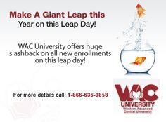 WAC University launches an exclusive scholarship plan on the Leap Day!