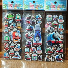 Bubbles sticker train cartoon Label  European and American movie card pocket toys stickers anime characters