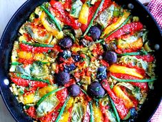 Vegetable Paella, Italian Style - Proud Italian Cook.  Almost too pretty to eat.  But Yum!!