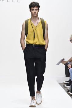 Margaret Howell Men SS17  Knitted Vest, High Waisted Pants