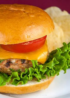 These Grilled Turkey Burgers with Harissa Aioli are full of flavor  a touch of heat. You'll love them! #SummerSoiree #FoodNetwork - 2014 Jane Bonacci, The Heritage Cook