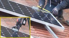 Photovoltaik selber montieren - Die Aufdachmontage in Eigenregie @ diybook. Solar Panels, Pergola, Alternative, Outdoor Decor, Rustic Cabins, Camper Interior, Electrical Installation, House And Home, Sun Panels