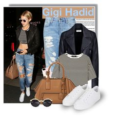 """Gigi Hadid on May 5th"" by anne-mclayne ❤ liked on Polyvore featuring Topshop, Balenciaga, J.Crew, TIBI, Marc Jacobs, Trilogy, Pop Fashionwear, StreetStyle, celebstyle and gethelook"
