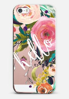 Hello Watercolor Floral iPhone SE case by Jande Laulu | Casetify