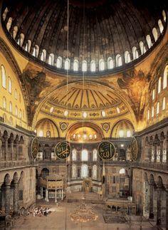 Iglesia de Santa Sofía de Constantinopla, cúpulas y semicúpulas -5