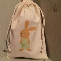 Personalised easter bag egg hunting jute sack pouch bag details about personalised cotton drawstring easter egg hunt party gift bags 15cm x 22cm negle Image collections