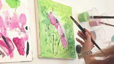 Acrylmalen Tutorial & Verlosung des Originals! Florales Motiv zur Ausgab...