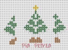 3D Christmas tree perler pattern by Pia Petrea
