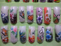 Opciones One Stroke Nails, Toe Designs, Nail Patterns, Flower Nails, Cool Nail Art, Nail Arts, Pedicure, Finger, Lily