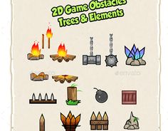 """Check out new work on my @Behance portfolio: """"2D Game Obstacles, Trees & Elements"""" http://be.net/gallery/45805747/2D-Game-Obstacles-Trees-Elements"""